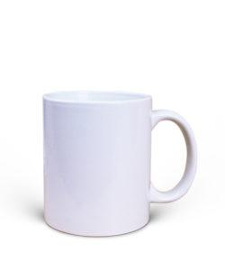 ceramic white mug print