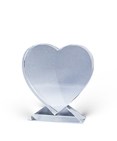 Crystal Heart Shape 4″
