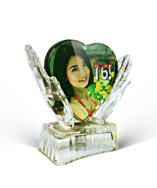 Heart in Hand Crystal Gift