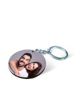 MDF Round Photo Keychain Gift Buy Shop Send Online Kathmandu Nepal