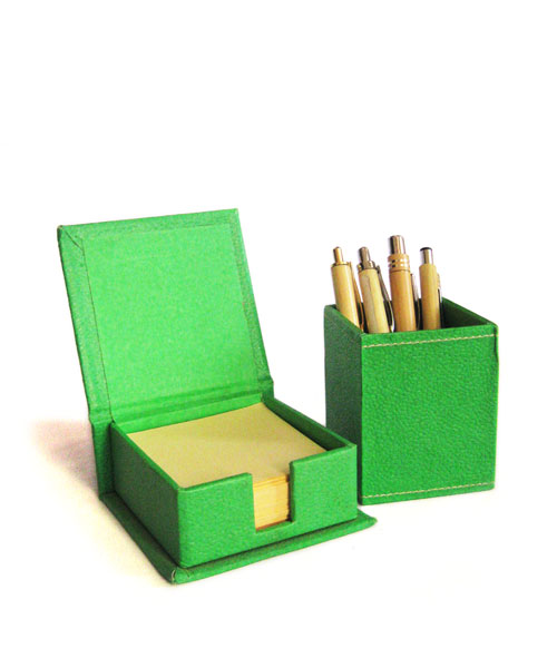 Eco Leather Stationery Set