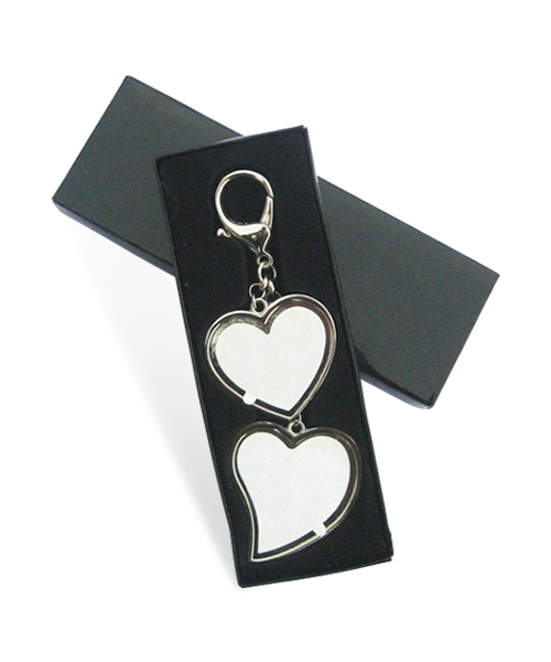 Metal Heart Family Tree Keychain