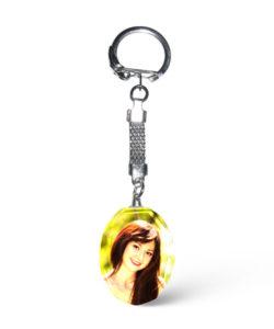Crystal Oval Photo Keychain Gift Buy Shop Send Online Kathmandu Nepal