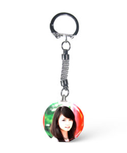 Crystal Round Photo Keychain Gift Buy Shop Send Online Kathmandu Nepal