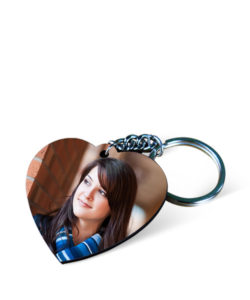 MDF Heart Photo Keychain Gift Buy Shop Send Online Kathmandu Nepal