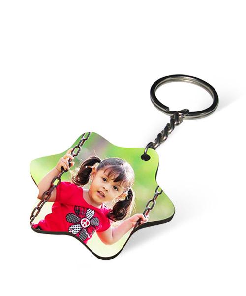 MDF Star Keychain