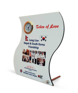 MDF Curvy Photo Frame Stand with Clock Gift Buy Shop Send Online Kathmandu Nepal