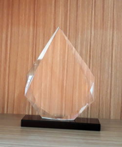 Award Crystal Trophy